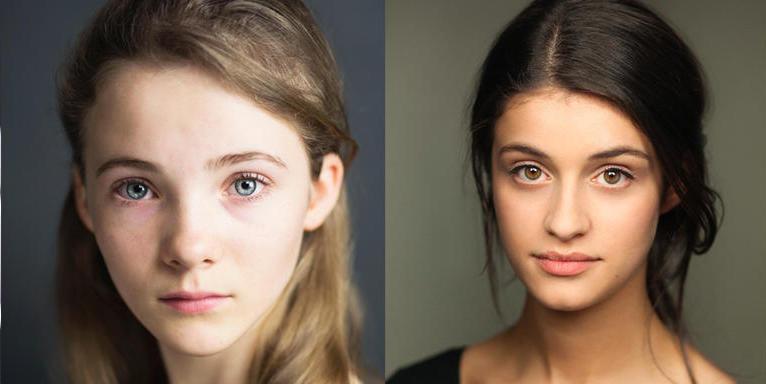 Freya Allan (Ciri), left, and Anya Chalotra (Yennifer), right. Via Netflix.