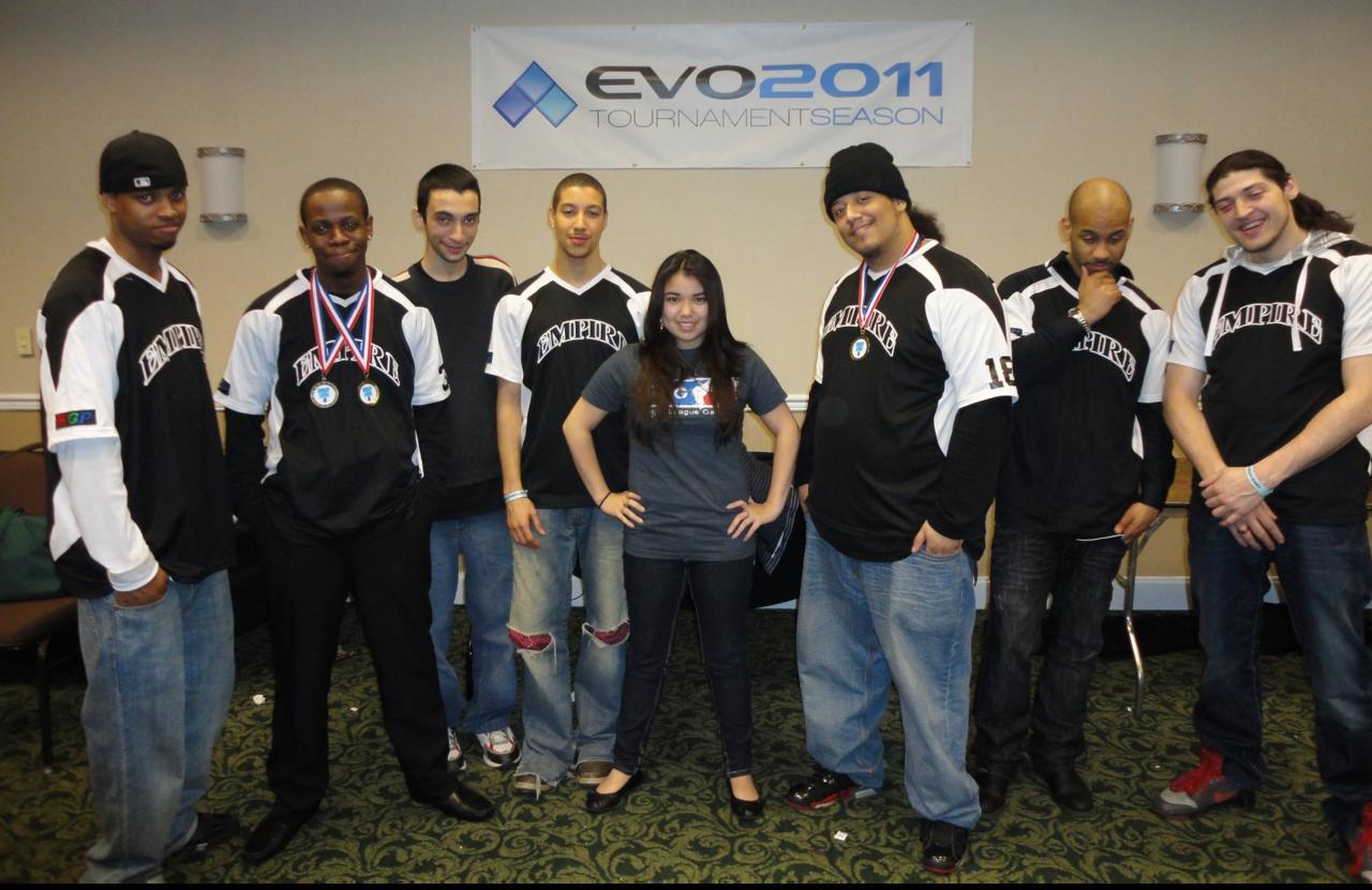 Reyes (far right) with Empire Arcadia