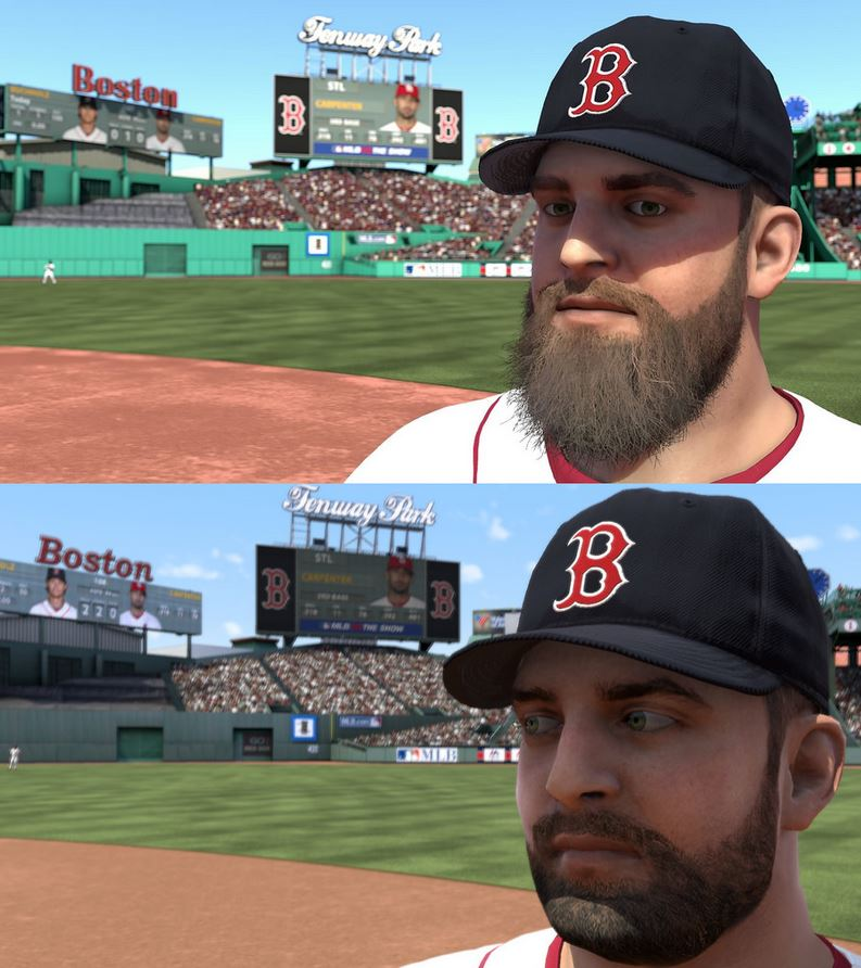 Top image captured on PS4, bottom image on PS3