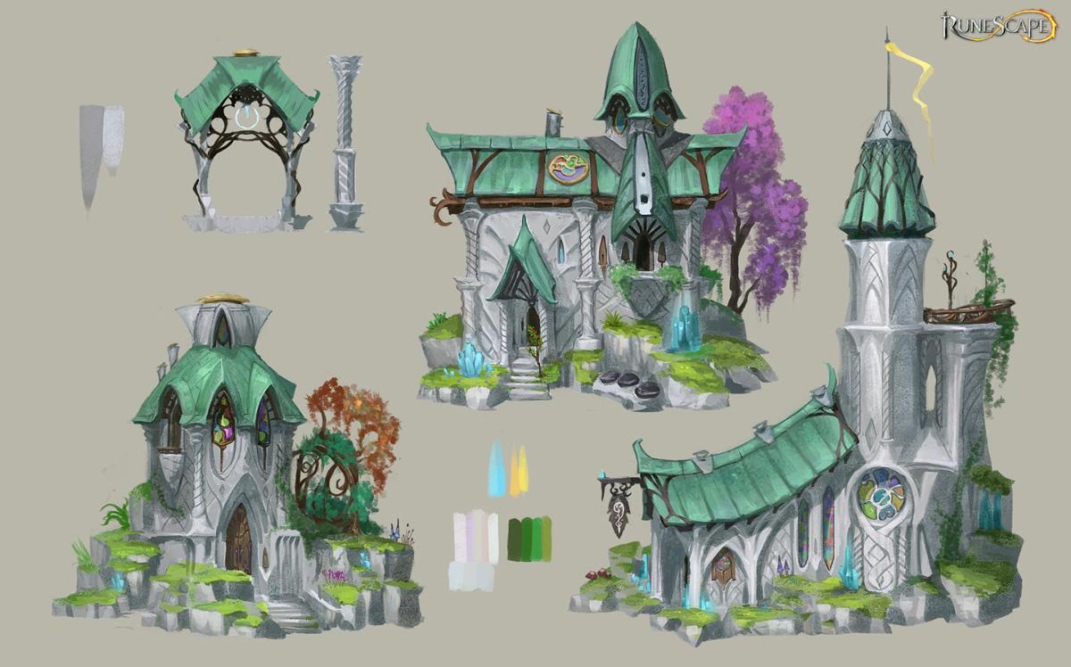 Concept for the elf city of Prifddinas