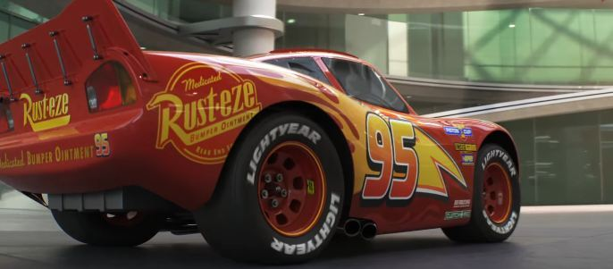 A scene from the newest Cars 3 movie trailer