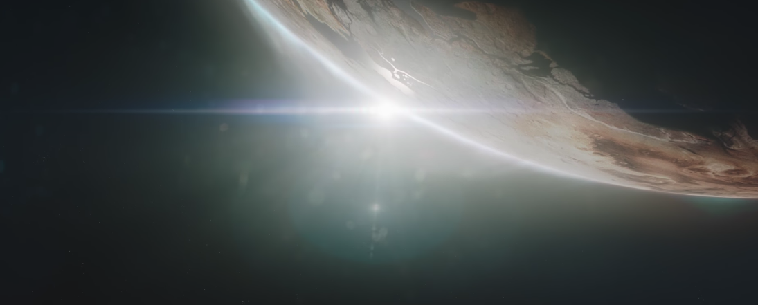 A scene from Starfield's announcement trailer