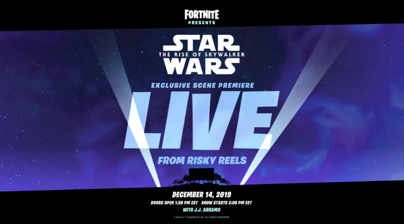 Star Wars Episode 9 reveal in Fortnite teaser