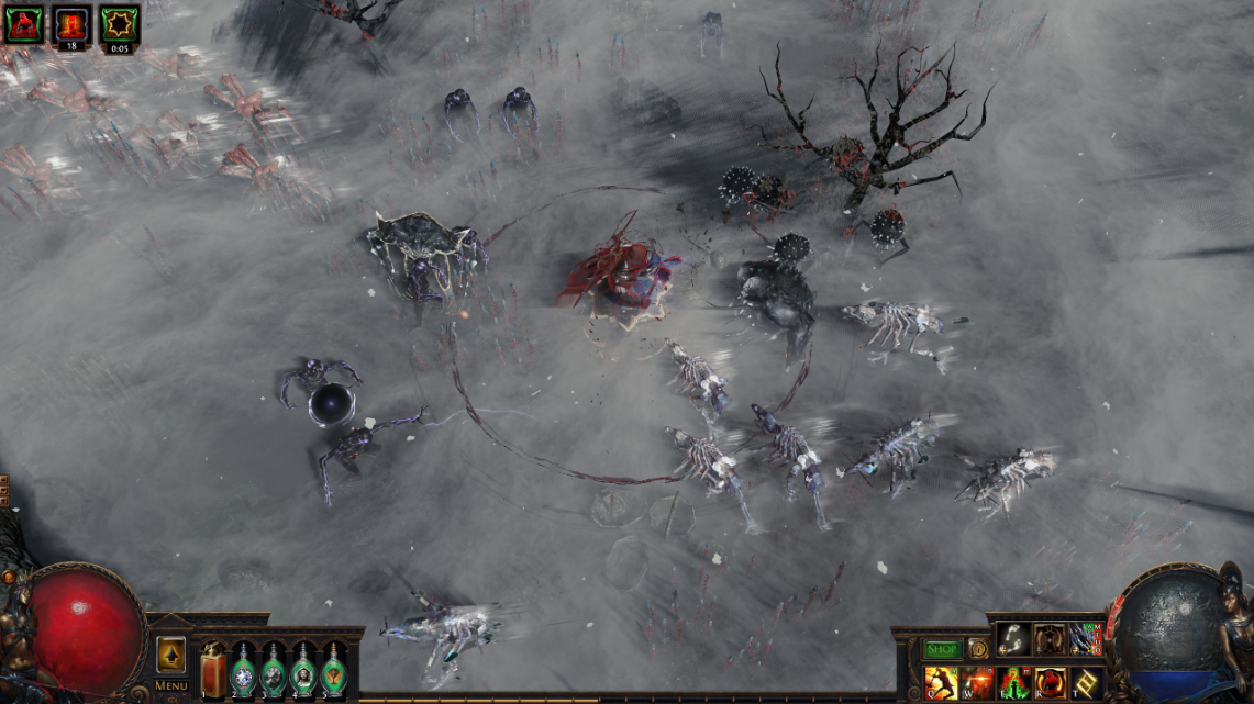 The Delirium mist seen in Path of Exile