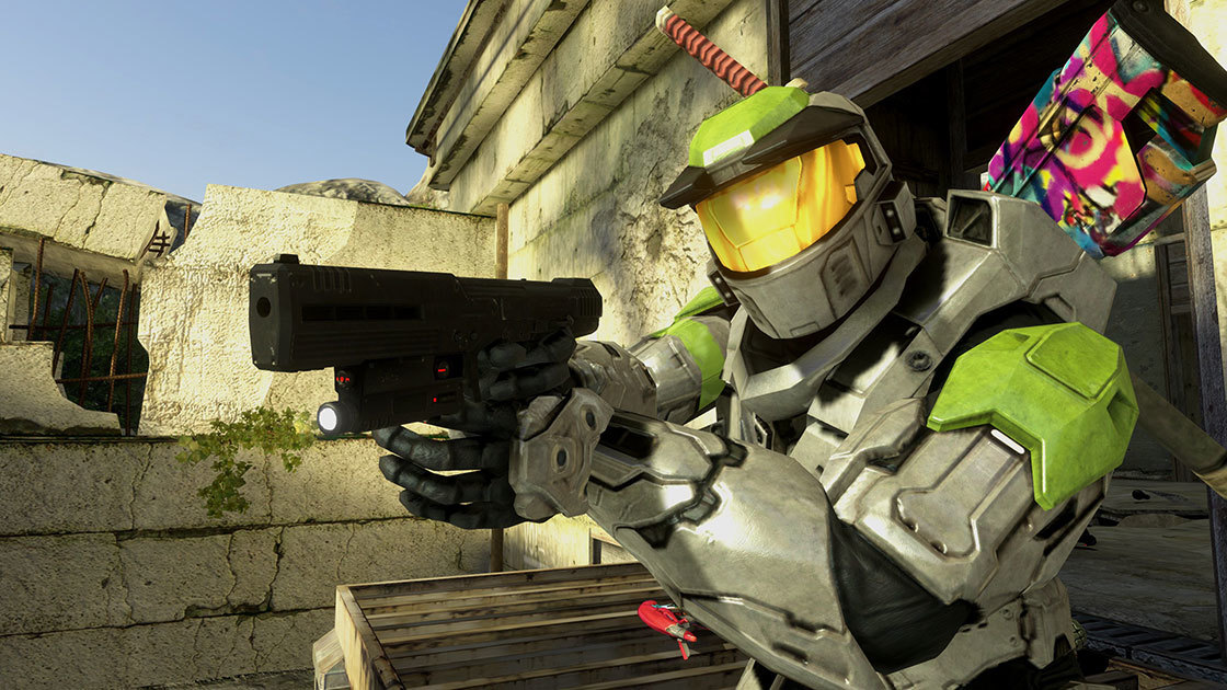 A first look at weapon skins in Halo 3
