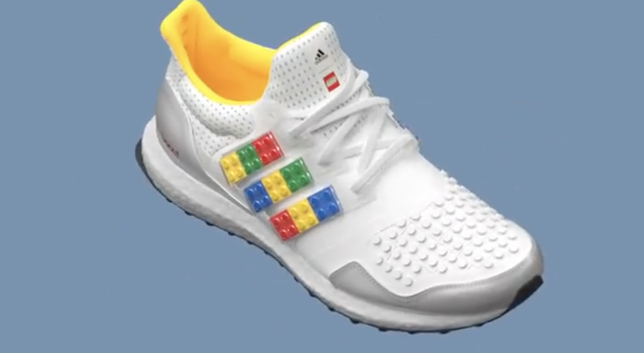 Behold, the Ultraboost DNA x Lego Plates running shoes from Lego and Adidas