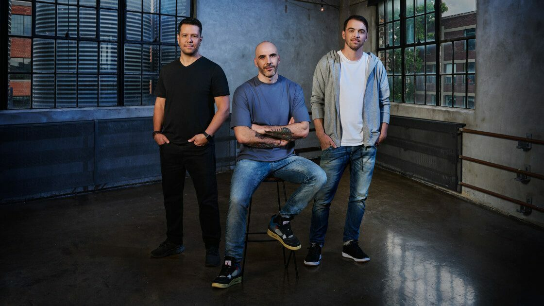 (Left to right) Mike Yazijian, Art Director; Roman Campos-Oriola, Creative Director; Philippe Ducharme, Senior Producer