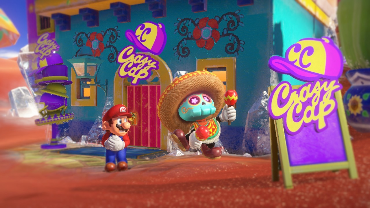 Super Mario Odyssey is one of the big Switch games this holiday