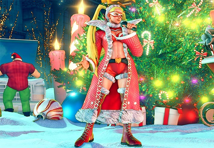 Sfv Christmas 2021 Check Out Street Fighter 5 S Christmas Dlc Stage And Costumes Gamespot