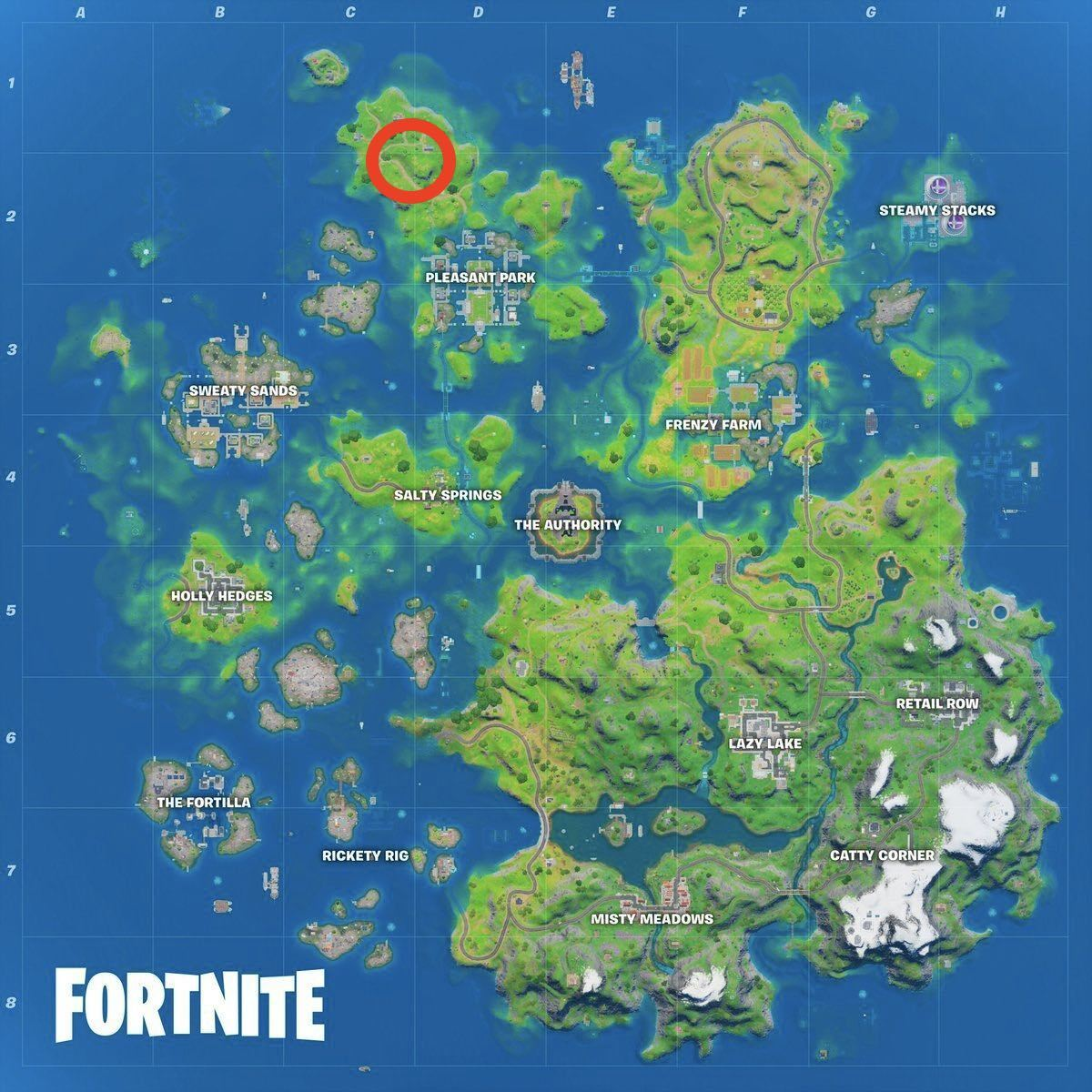 Homely Hills location on Fortnite's new Season 3 map