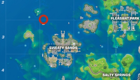 Trident map location near Coral Cove