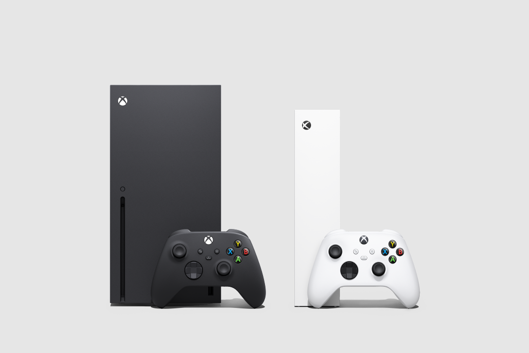 Front view of Xbox Series X and Xbox Series S