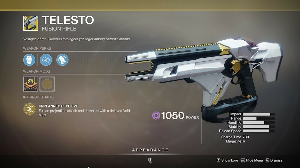 Telesto is a must-have fusion rifle
