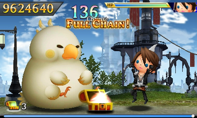 Only a fat chocobo with a chest full of treasure could bring Squall this much joy.