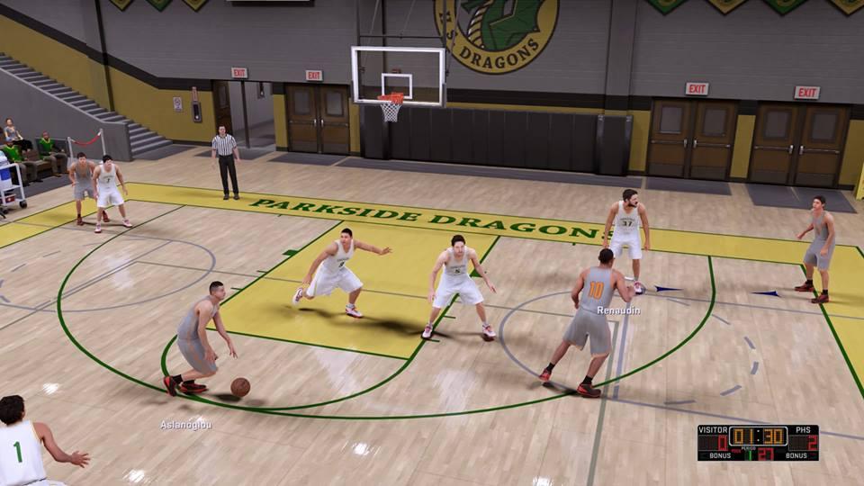 MyCareer wonderfully captures the setting of a high school basketball game.