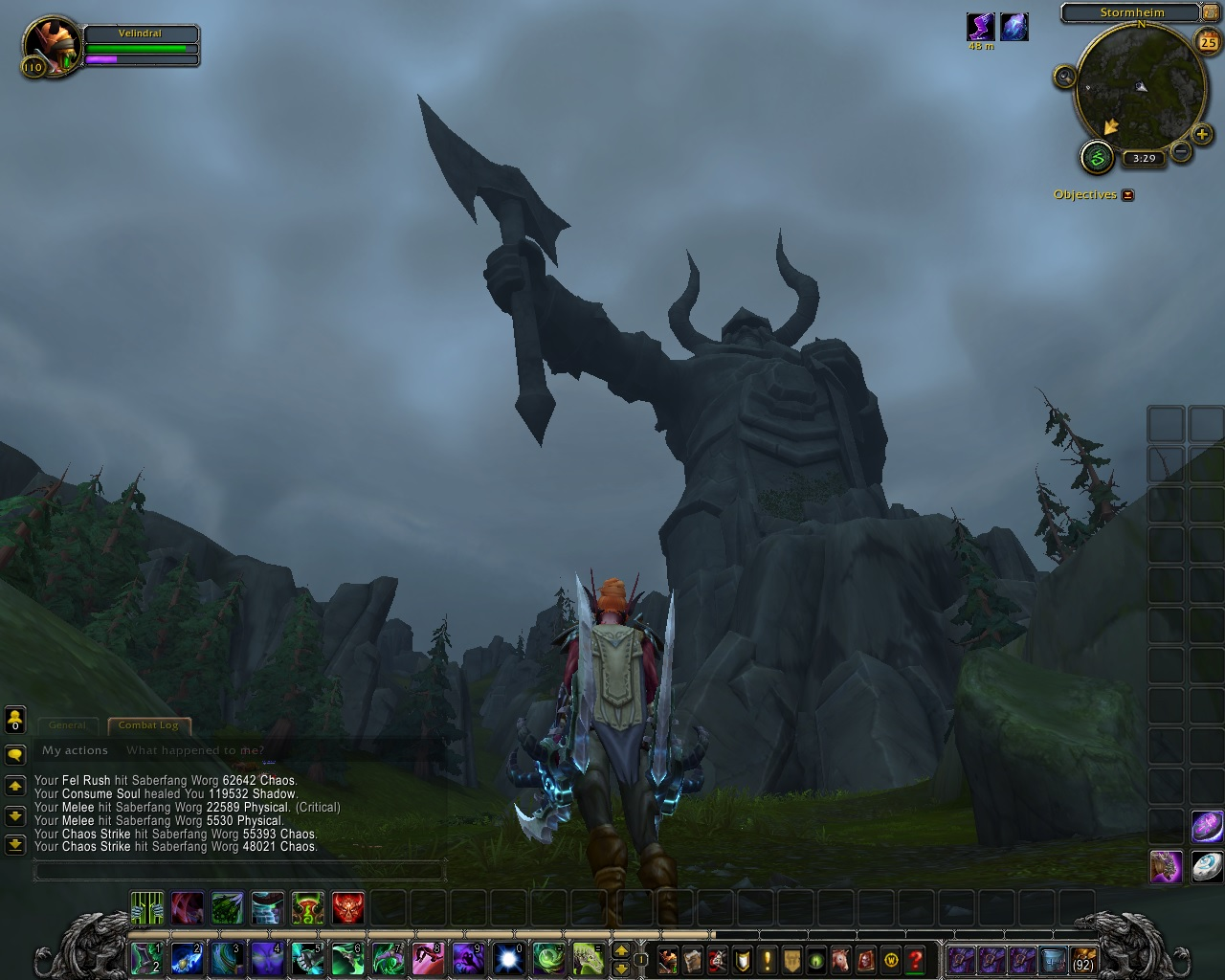 Stormheim viking statues not actually to scale.