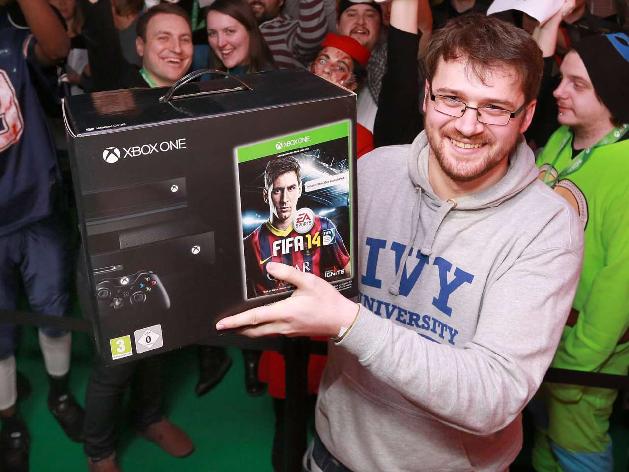 The first person in the UK to buy an Xbox One.