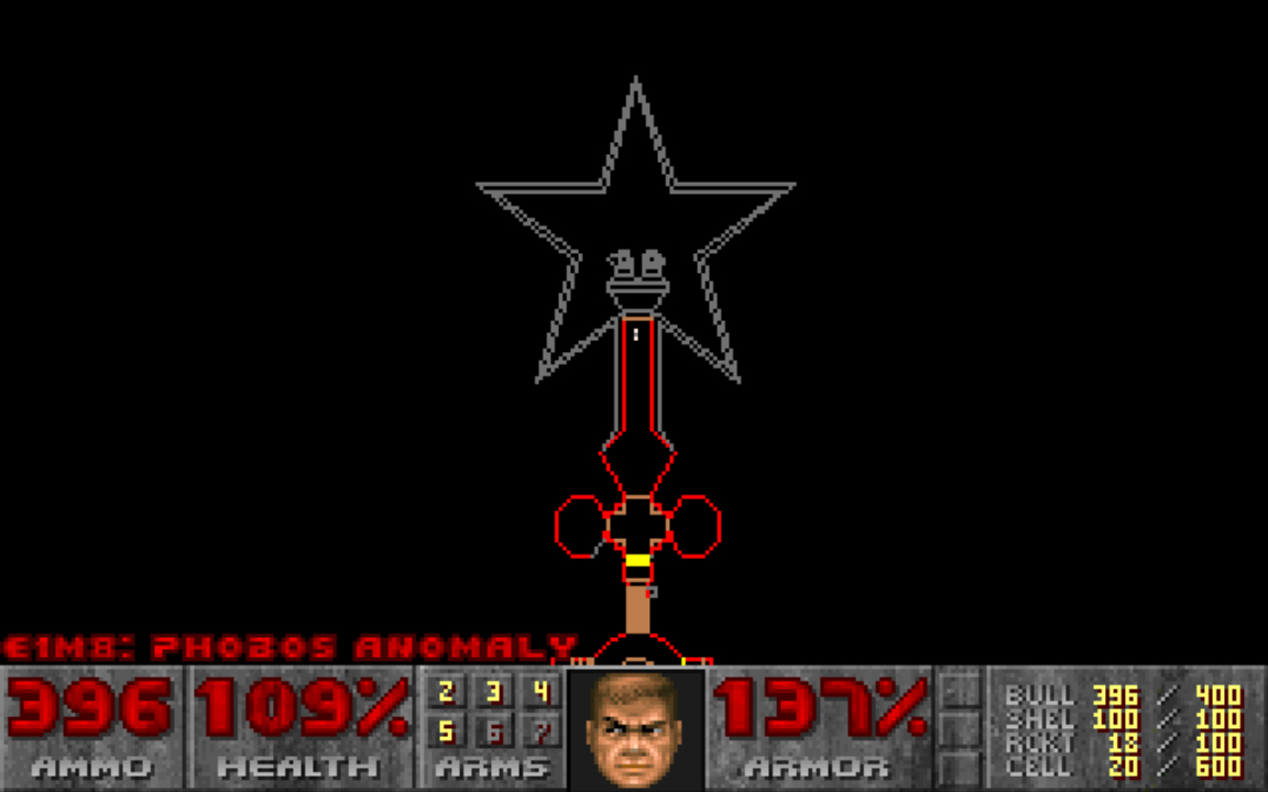Doom's abstract maps, like the one seen here from the in-game map screen, facilitated interesting combat encounters.