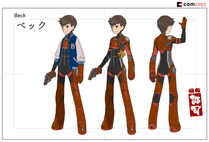 Concept art of the main character, Beck
