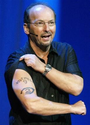 Peter Moore joined Microsoft in 2003 to lead the Xbox sales and publishing business. He famously announced the Halo 2 release date with a tattoo (above)