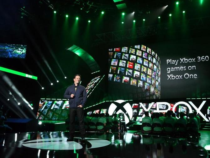 Phil Spencer, head of Xbox, announcing backwards compatibility during Microsoft's E3 2015 press conference.