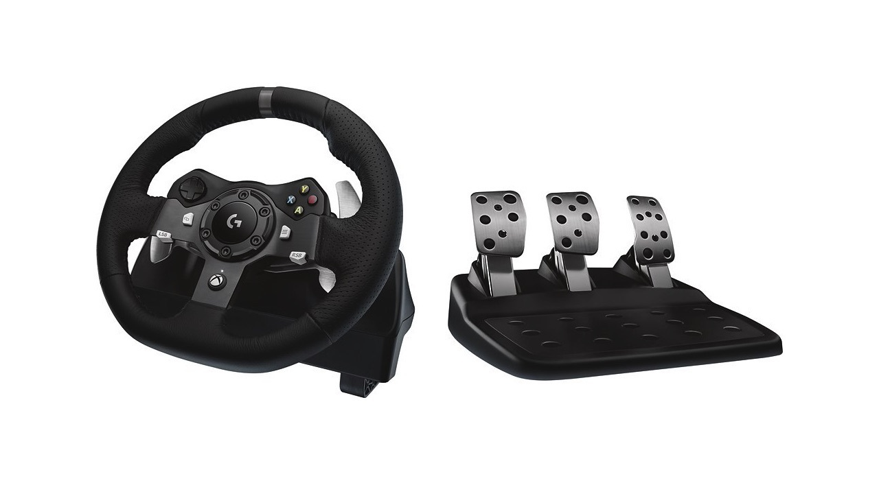 Logitech G920 Driving Force Racing Wheel for Xbox One and PC - $207