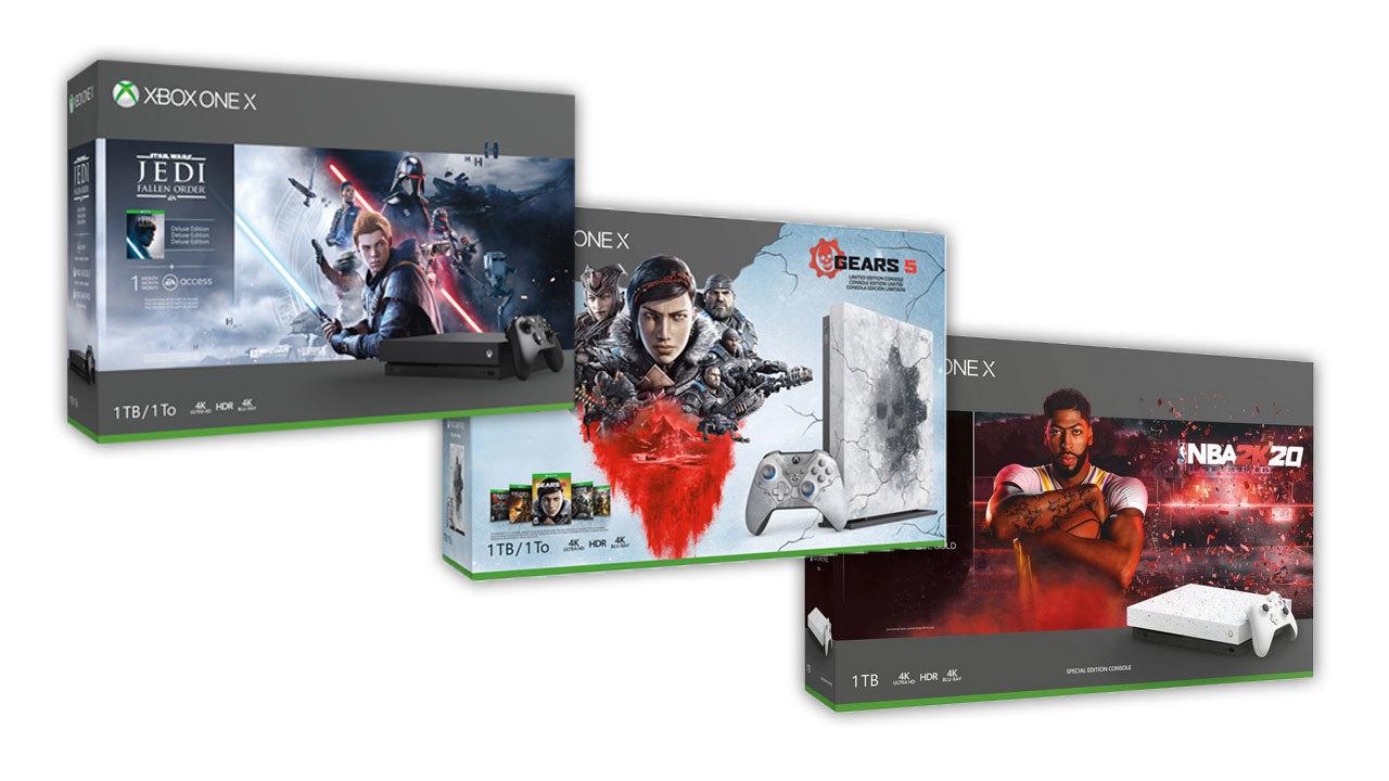 Xbox One X console bundles - $350.