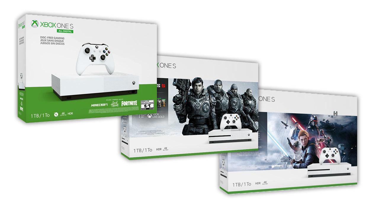 Xbox One S bundles - starting at $150.