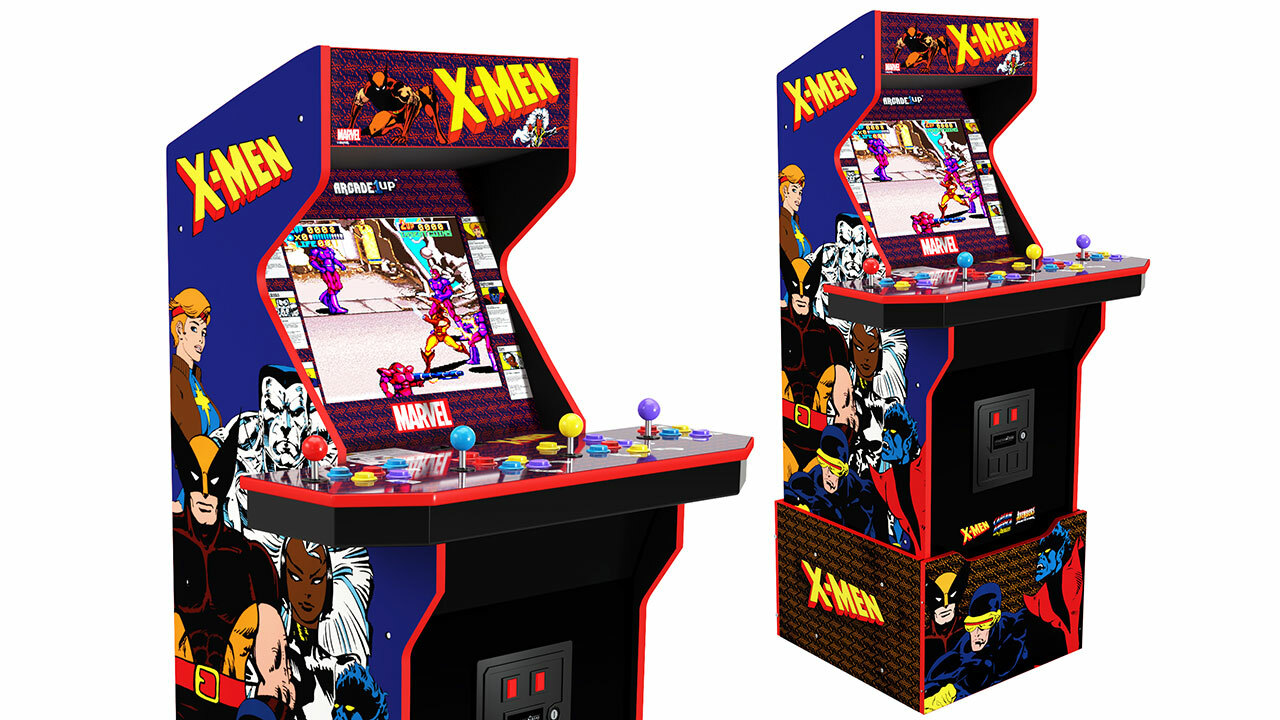 X-Men four-player cabinet (with riser)