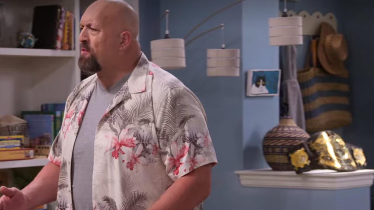 The Big Show and his championship title on the Netflix series