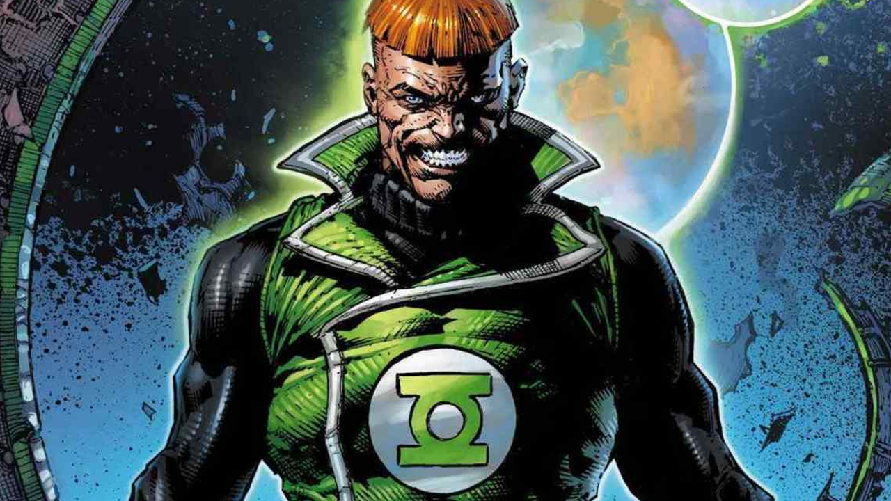 Guy Gardner with his classic bowl cut