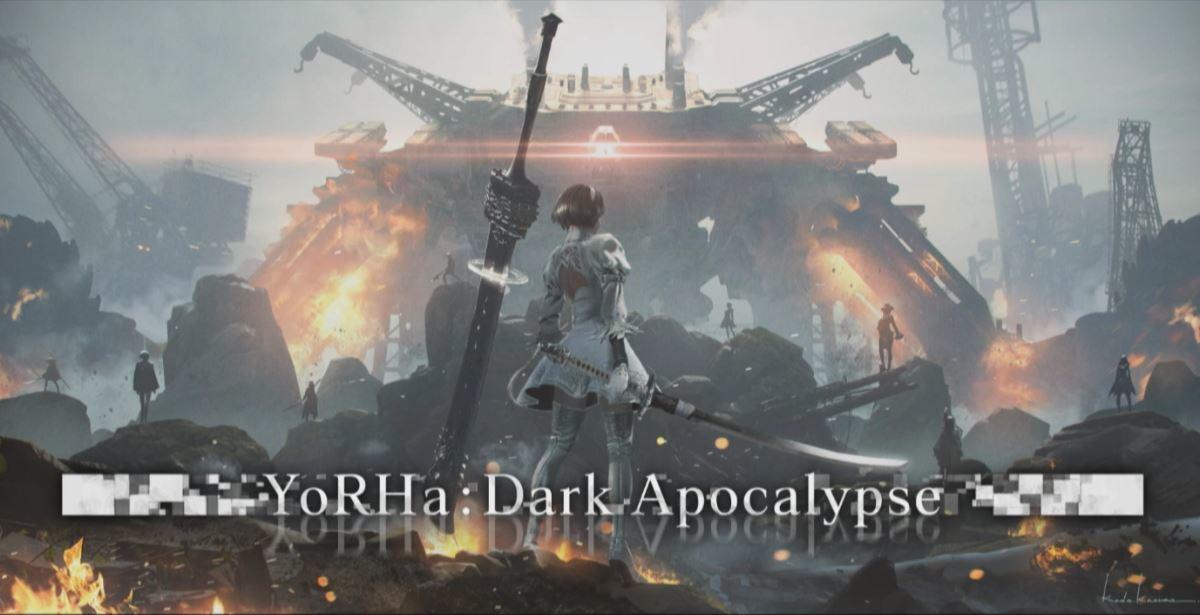 Key art for the upcoming Nier Automata crossover raid in Final Fantasy XIV: Shadowbringers.