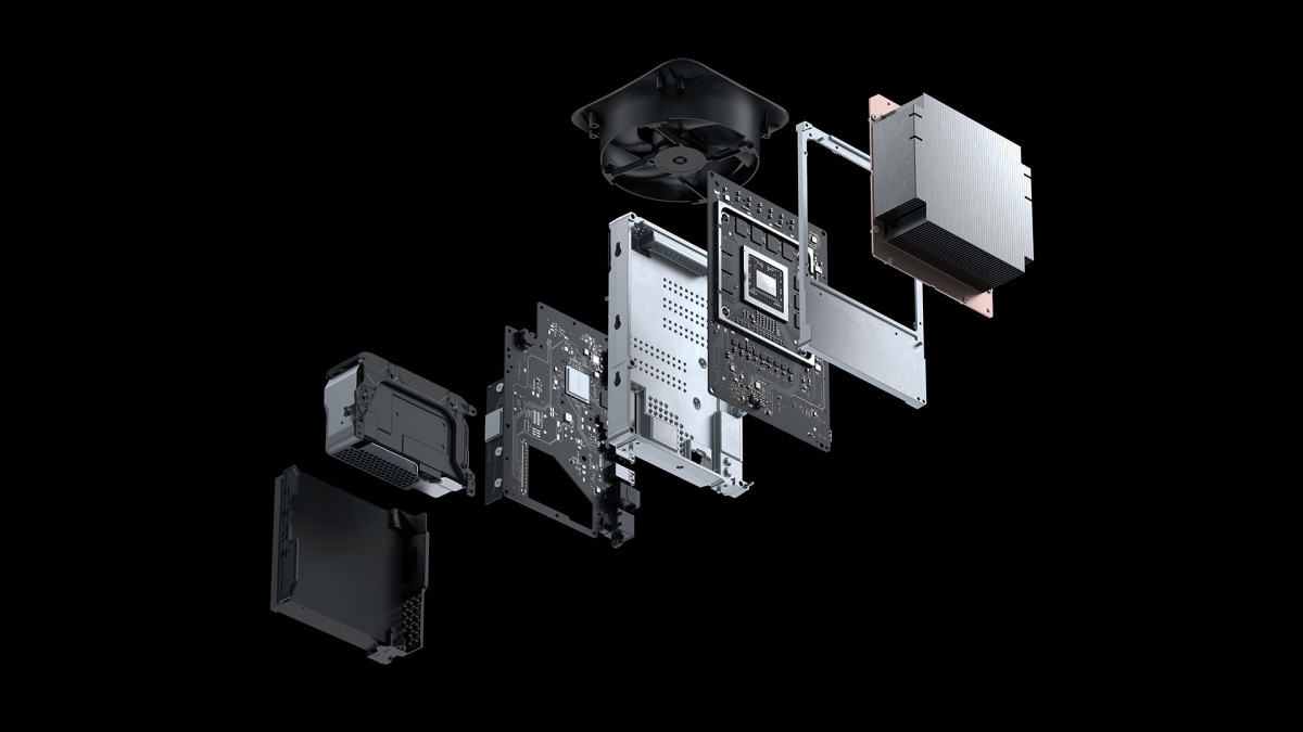 The Xbox Series X component teardown render