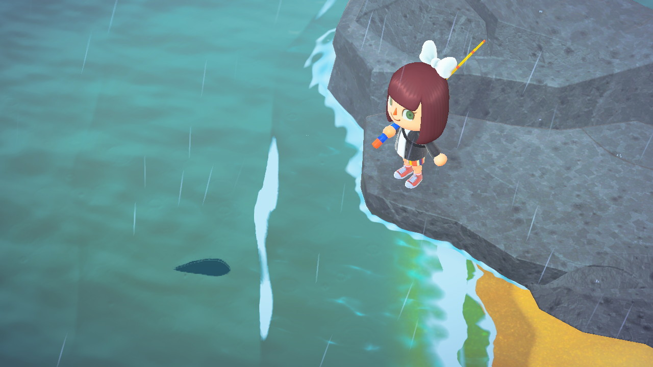 A medium-sized fish (size 3) in Animal Crossing: New Horizons.