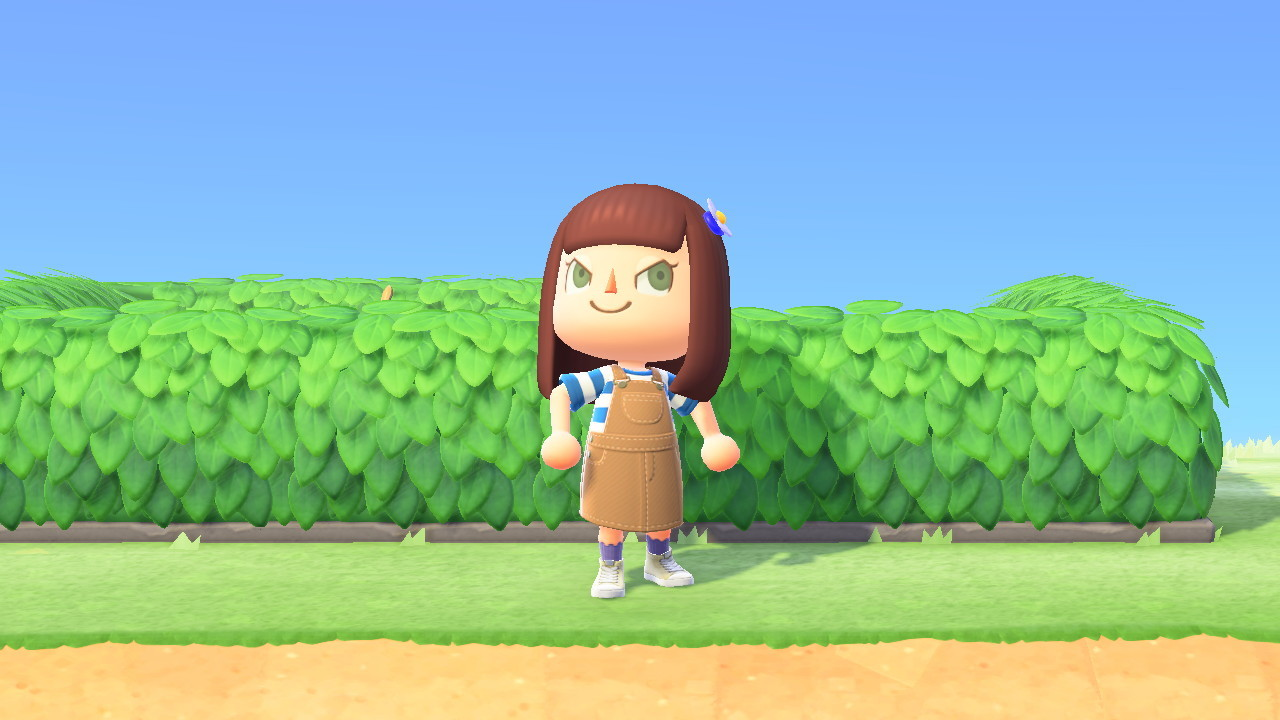 Outside the May Day hedge maze in Animal Crossing: New Horizons.