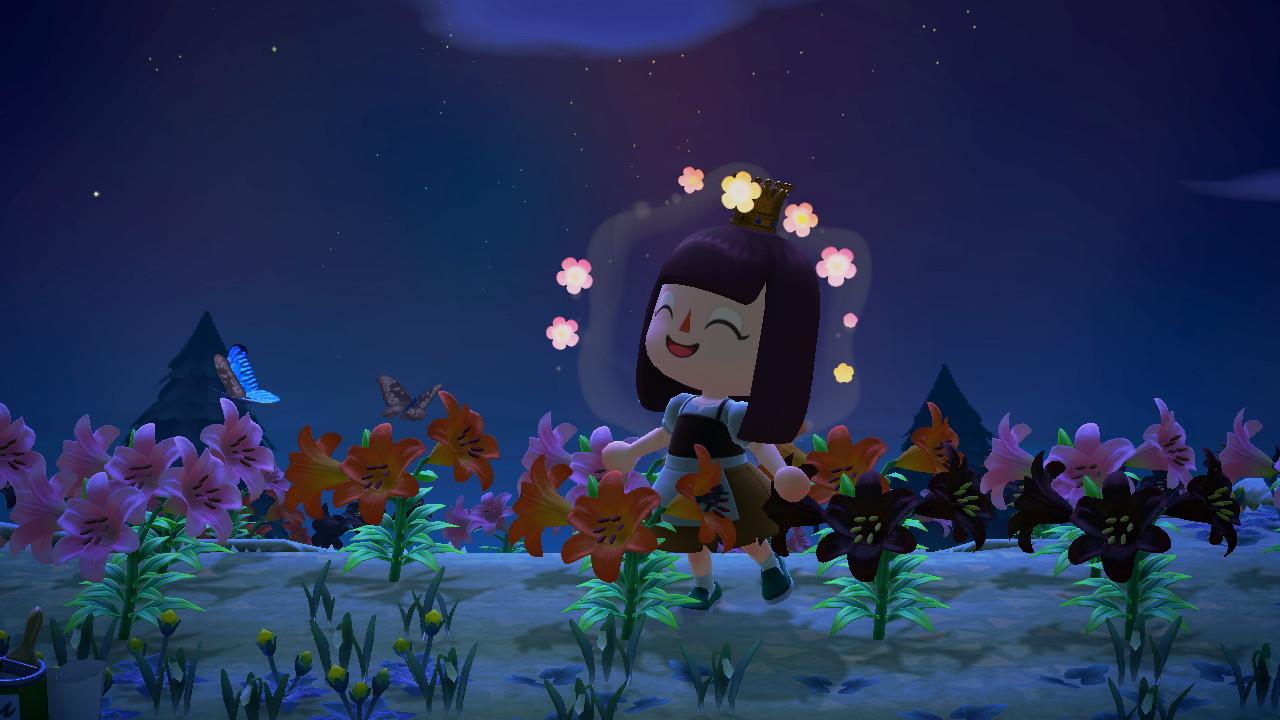 A hybrid flower island in Animal Crossing: New Horizons (RIP).