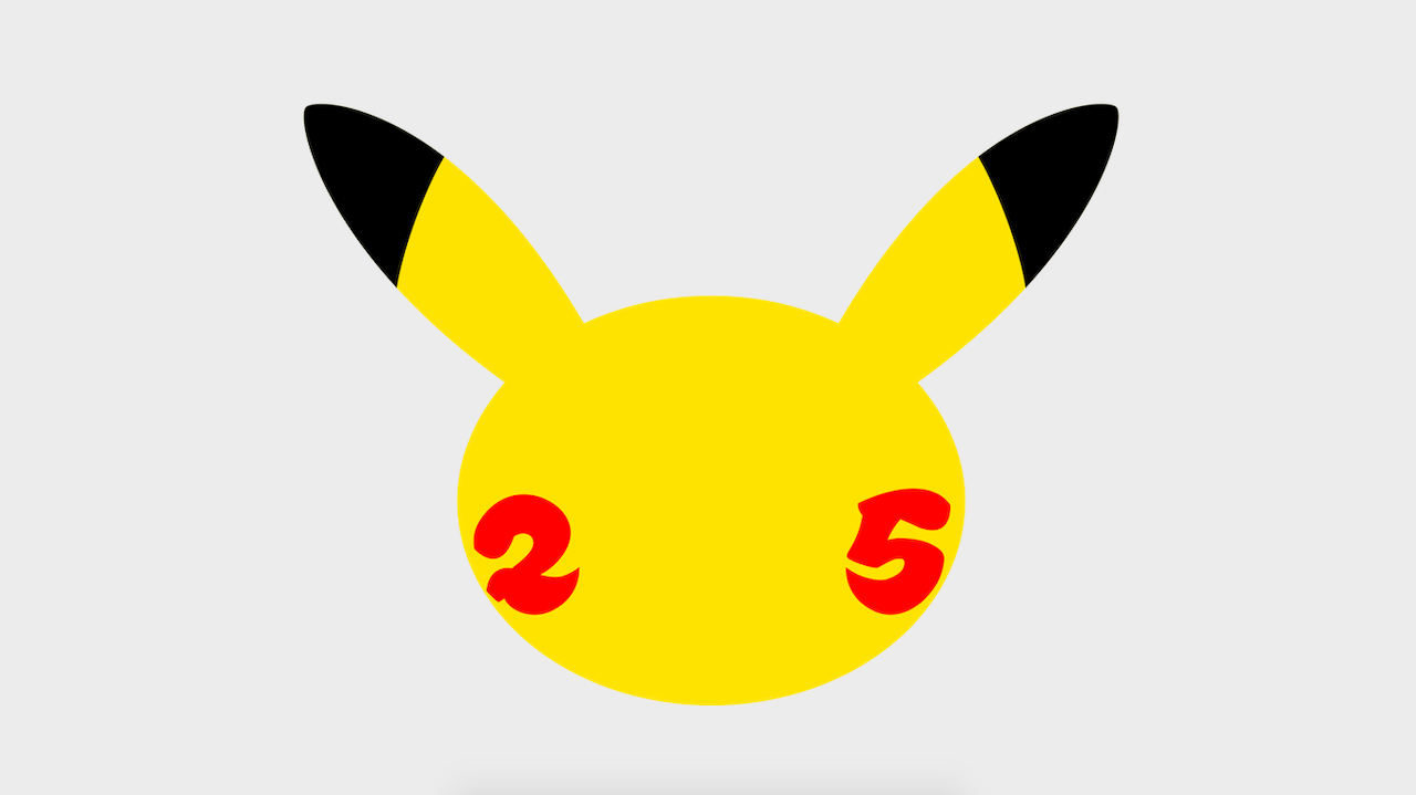 The Pokemon 25th anniversary logo
