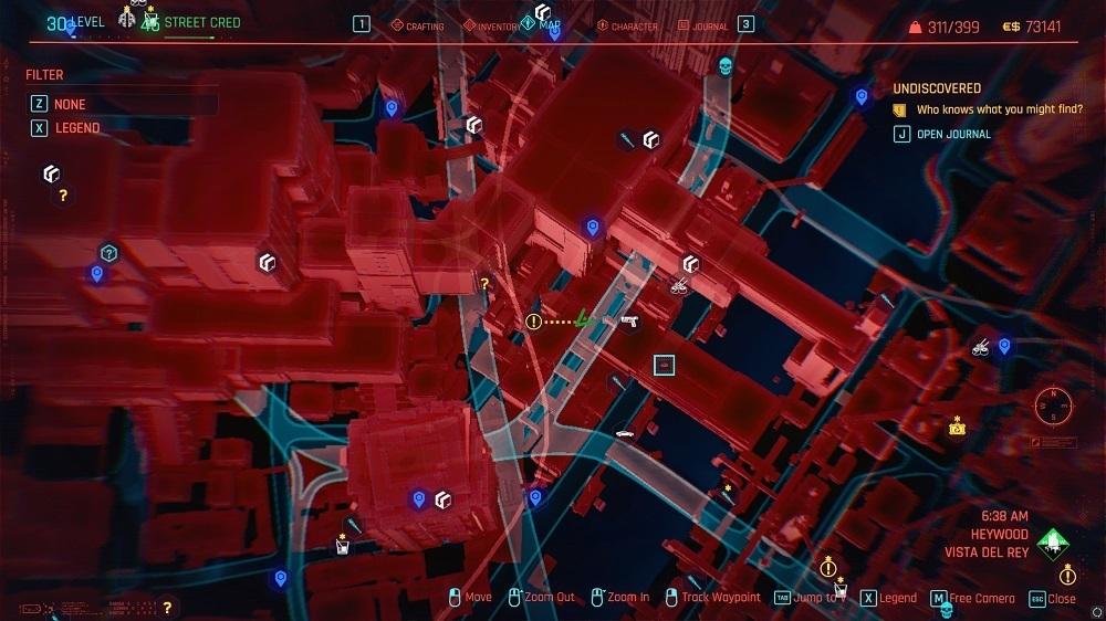 The location of Skippy in Cyberpunk 2077.
