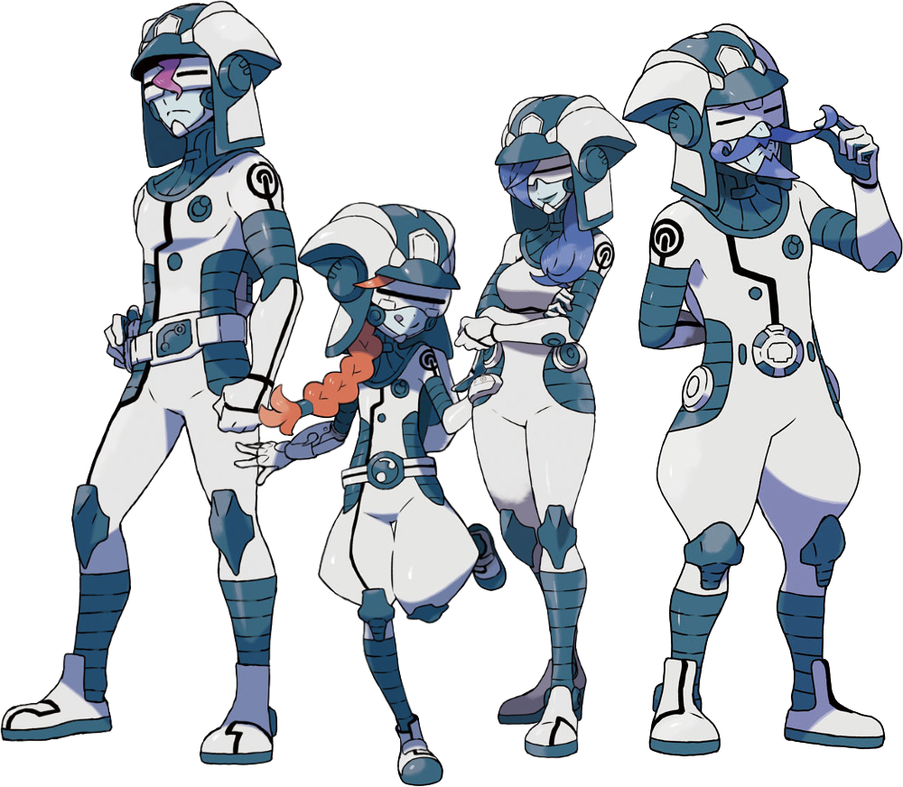 Ultra Recon Squad, from left to right: Dulse, Zossie, Soliera, and Phyco