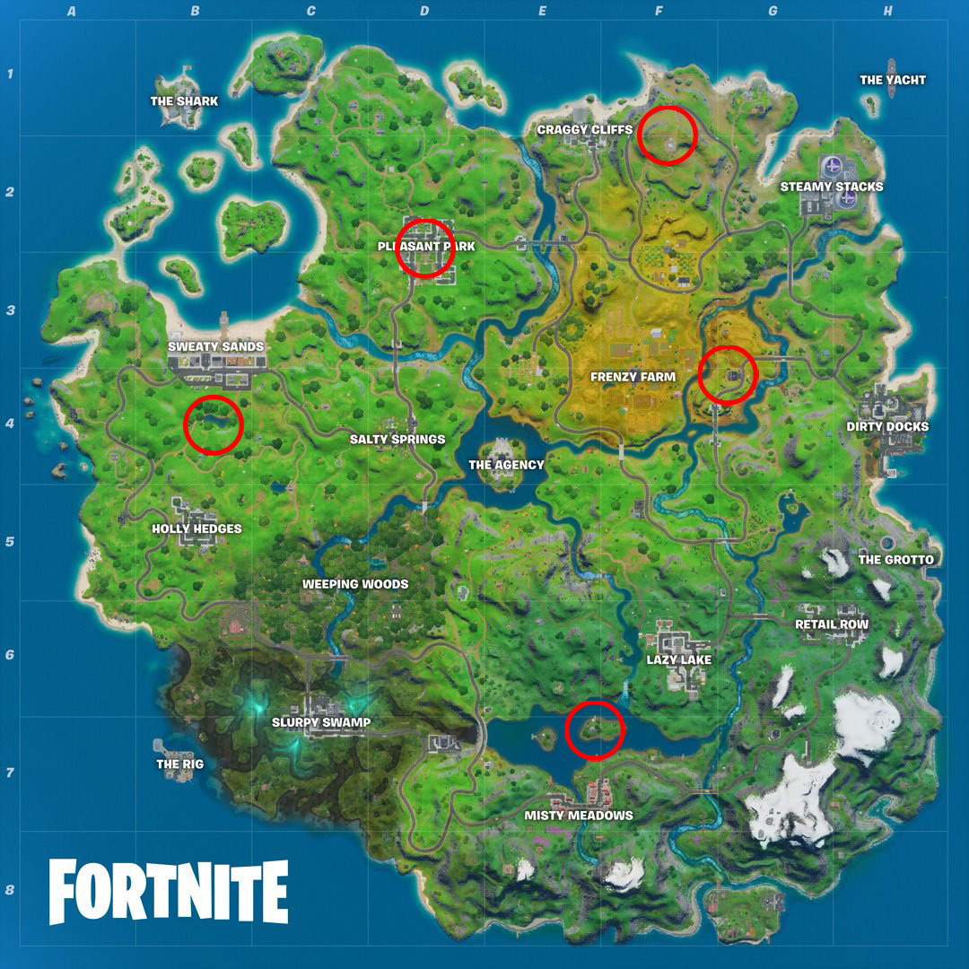 Shadow safe houses map