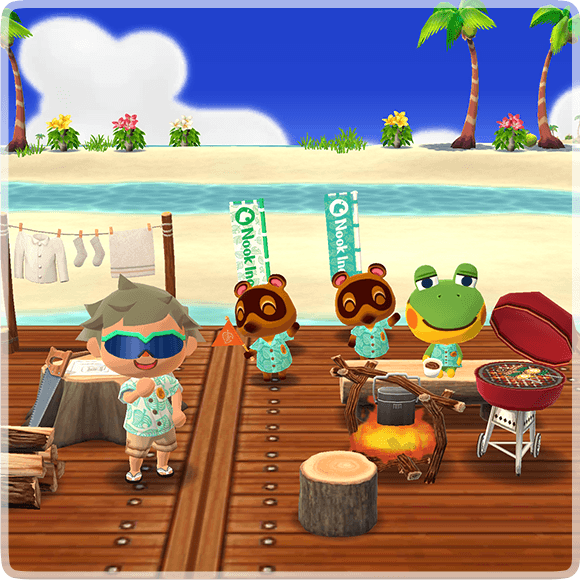 New Horizons items in Pocket Camp