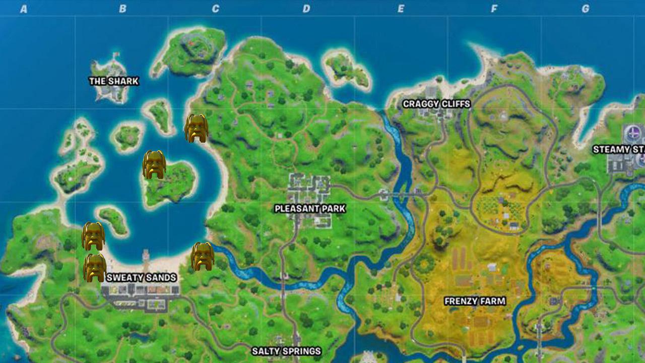 Fortnite Astro head locations