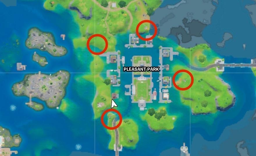 Pleasant Park floating rings map