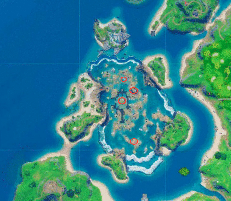 Coral Castle floating ring locations