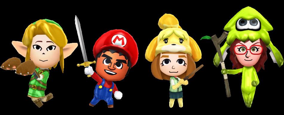 Miitopia Nintendo outfits