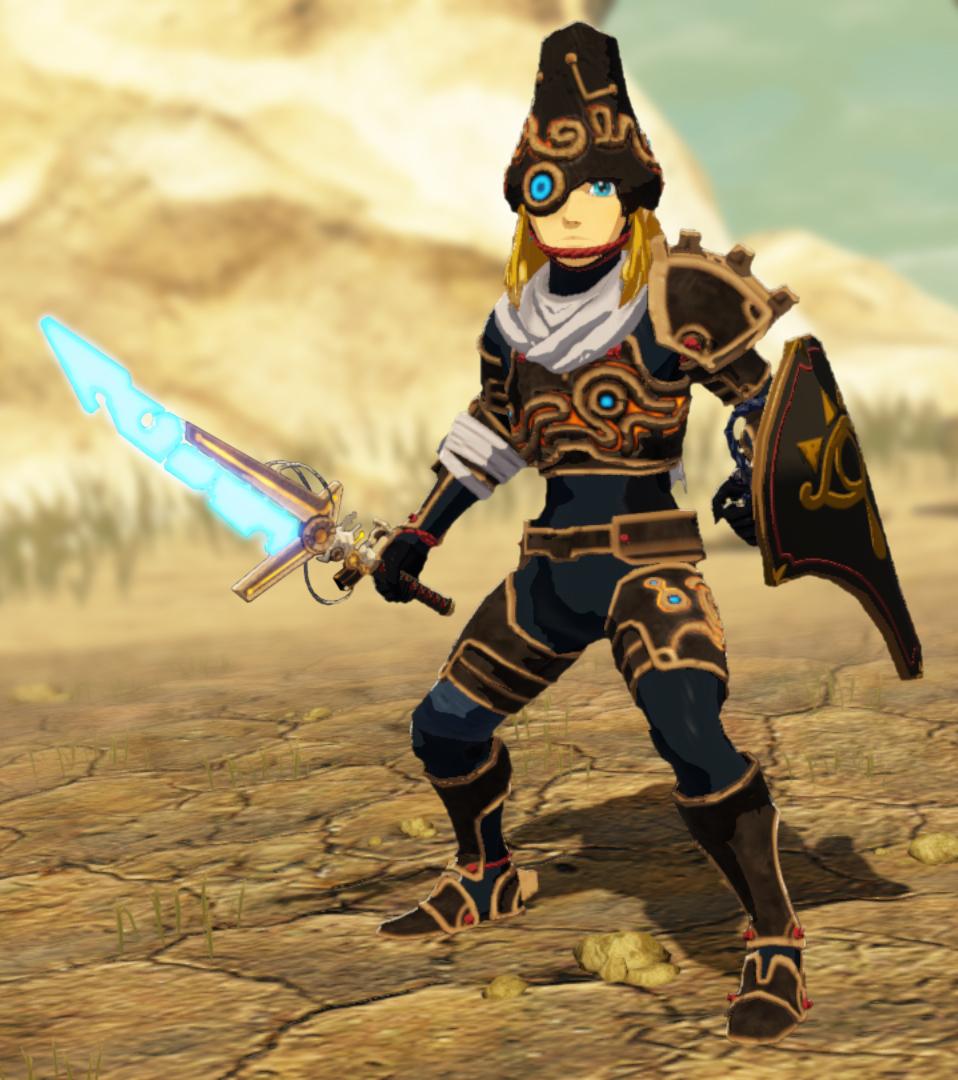 Protótipo de espada e armadura antigas