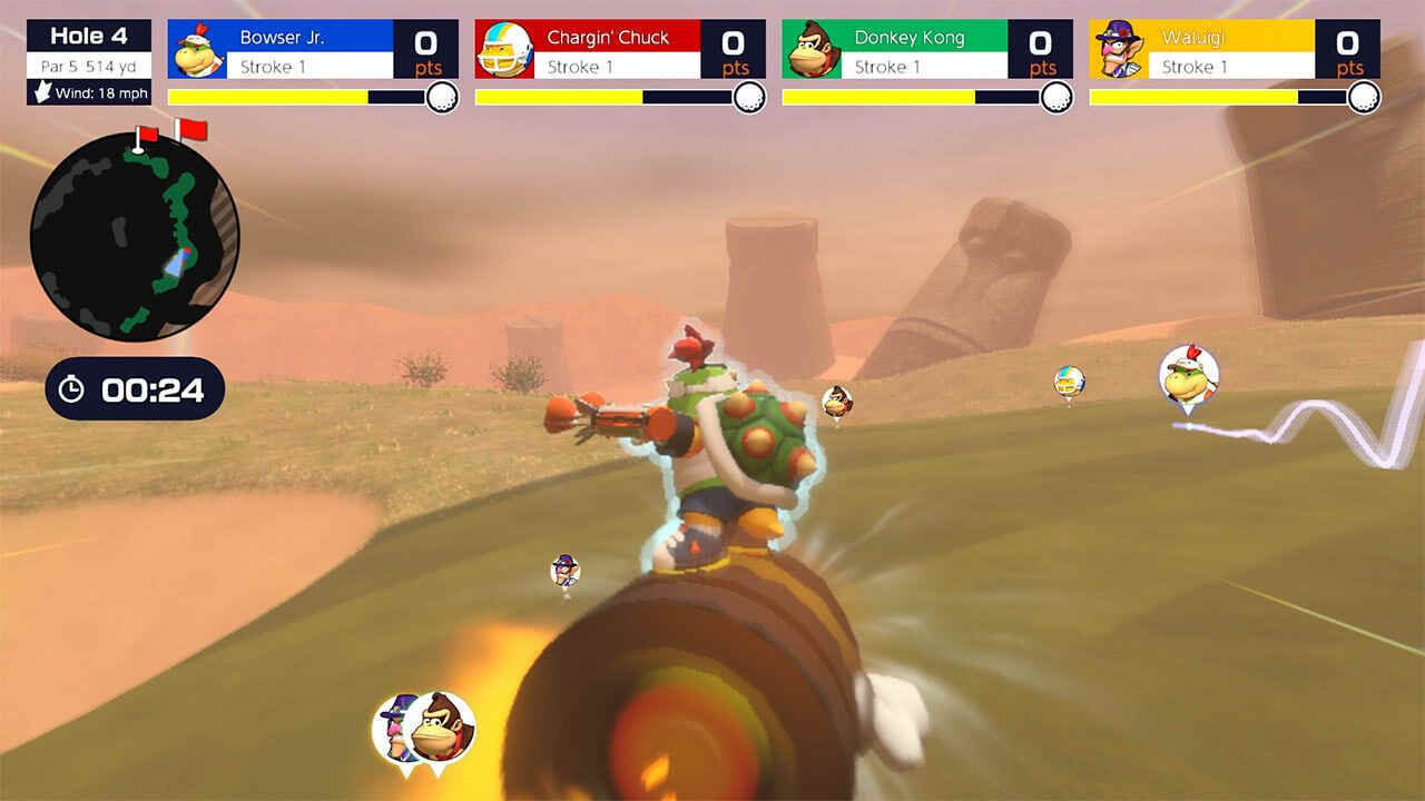 Mario Golf: Super Rush Speed Golf Mode looks chaotic at its best | Cybersystems.pt