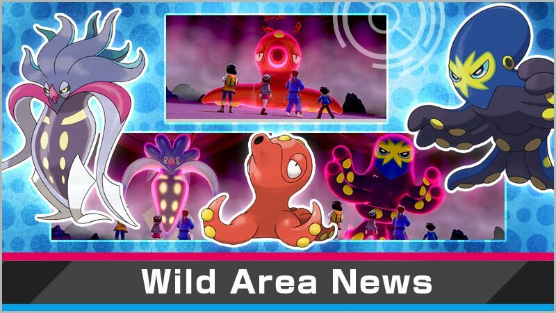 Some of the featured Pokemon in Sword and Shield's newest event