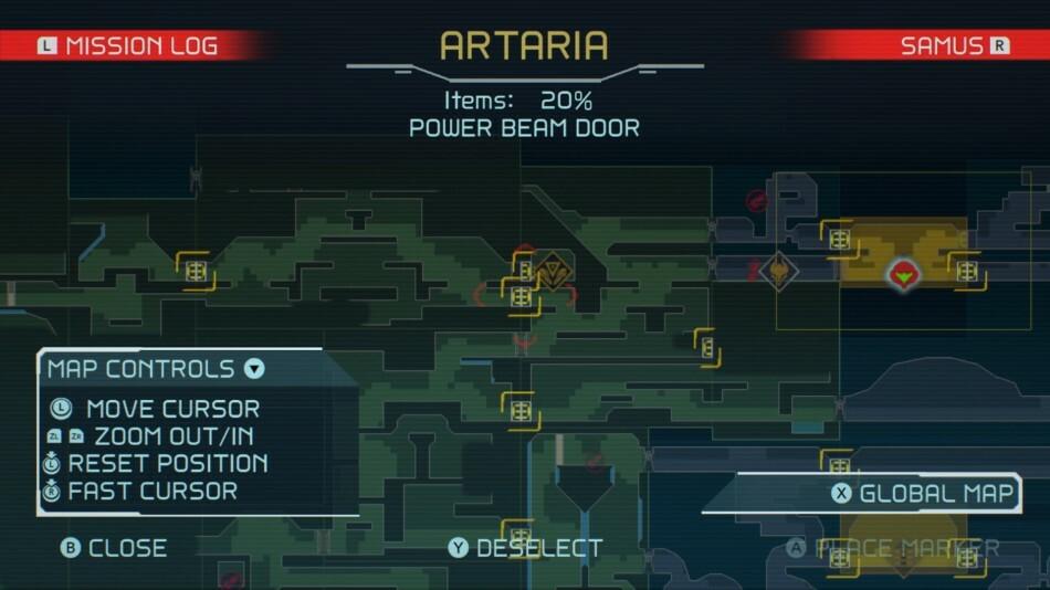 Metroid Dread map screen