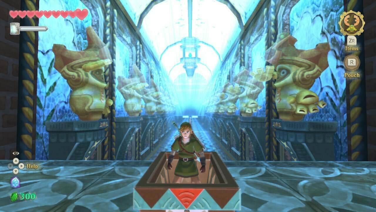 Link's adventure in Skyward Sword will take him to perilous dungeons filled with tricky obstacles.